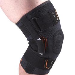 Linker/rechter kniebandage Strong 700 voor heren/dames zwart