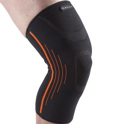Men's/Women's Right/Left Compression Knee Support Soft 300 - Black