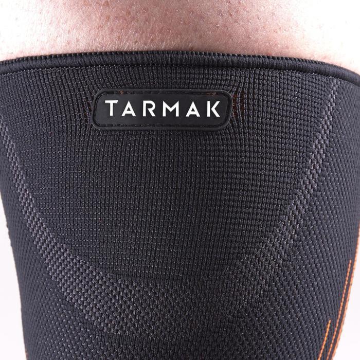 Compressie-kniebandage links/rechts heren/dames Soft 300 zwart