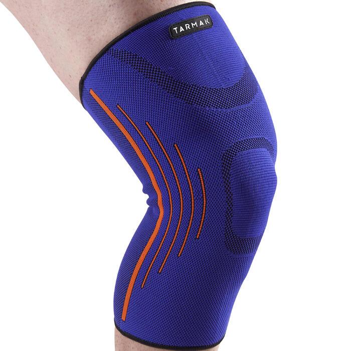 Kniebandage links/rechts voor dames/heren Soft 300 blauw