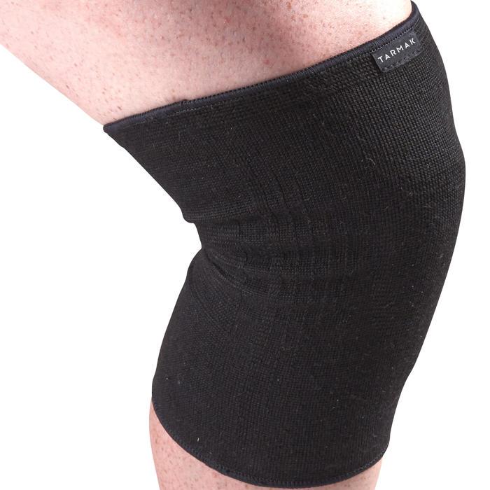 Kniebandage links/rechts voor dames/heren Soft 100 zwart