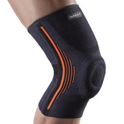 Linker/rechter kniebandage ondersteuning knieschijf heren/dames Soft 500 zwart