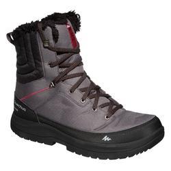 Heren wandelschoenen voor de sneeuw SH100 X-Warm high kaki.