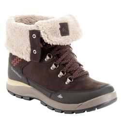 SH500 Women's High Warm and Waterproof Snow Hiking Boots - Rust