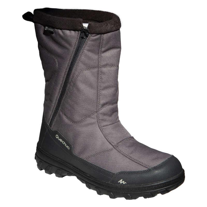 MEN SNOW HIKING WARM BOOTS Hiking - Men's Boots SH100 X-Warm - Kha QUECHUA - Outdoor Shoes