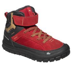 Chaussures de randonnée neige junior SH500 warm scratch mid rouge