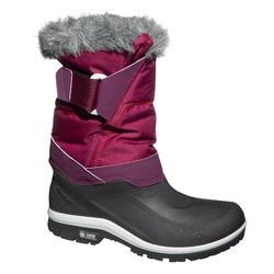 女款超保暖雪地健行靴SH500-紫色