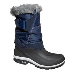 女款超保暖雪地健行靴SH500-藍色