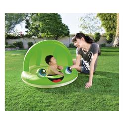 Piscina Inflable Natación Bestway Infantil con Techo Rana Verde/Roja