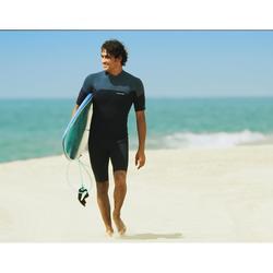 Traje Neopreno Corto Surf Olaian Hombre Shorty 2 mm Azul Gris