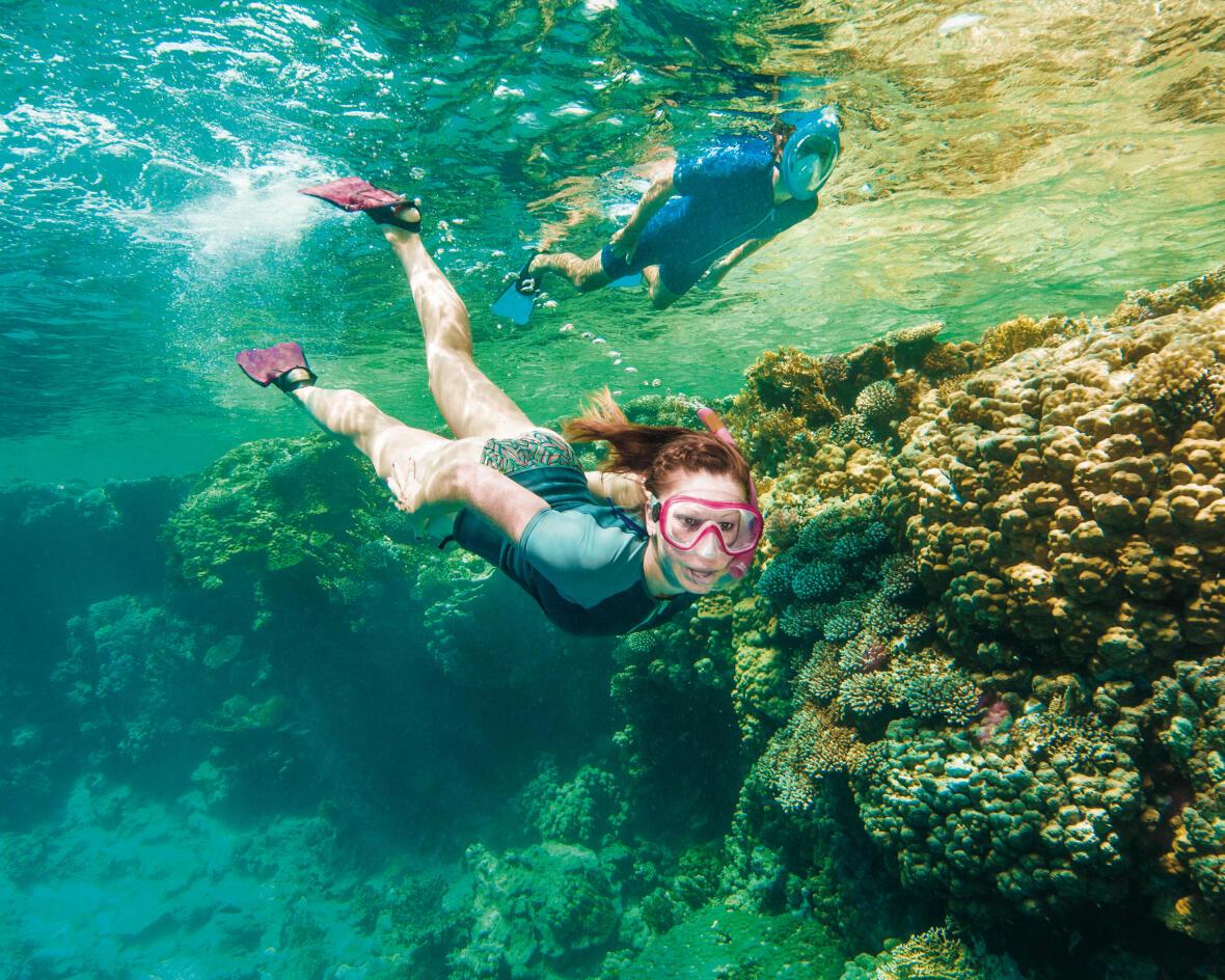 A segurança no snorkeling, passeio aquático