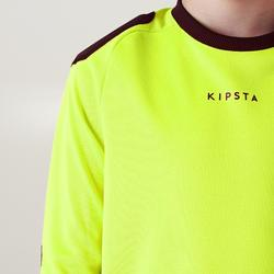 Camiseta Manga Larga Portero Fútbol FGKSLS100 Niño Amarillo