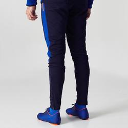 Pantalón Entrenamiento Fútbol Kipsta FTR500 Niño Negro Azul
