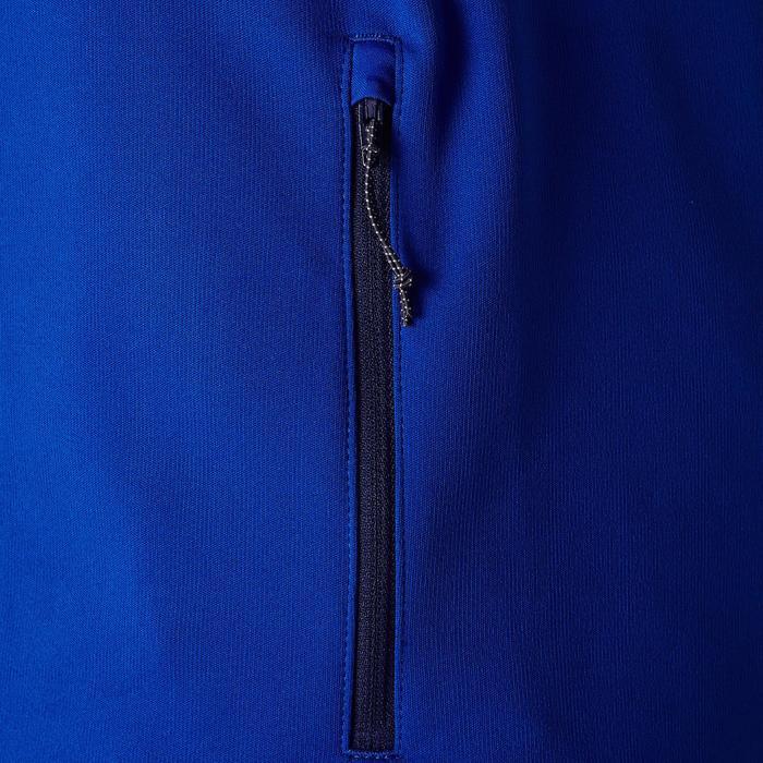 兒童款半開式拉鍊美式足球訓練運動衫-藍色/朱砂紅