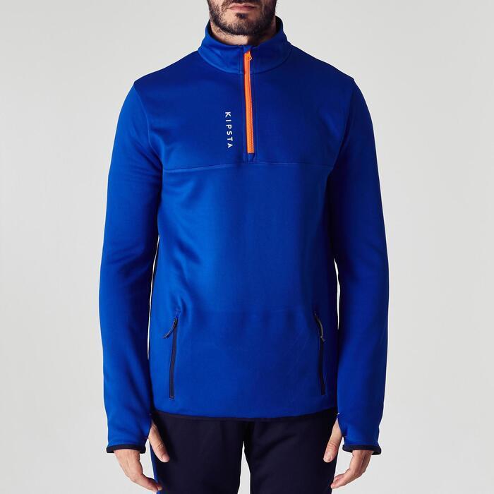 Trainingsjack voetbal kind T500 blauw/oranje