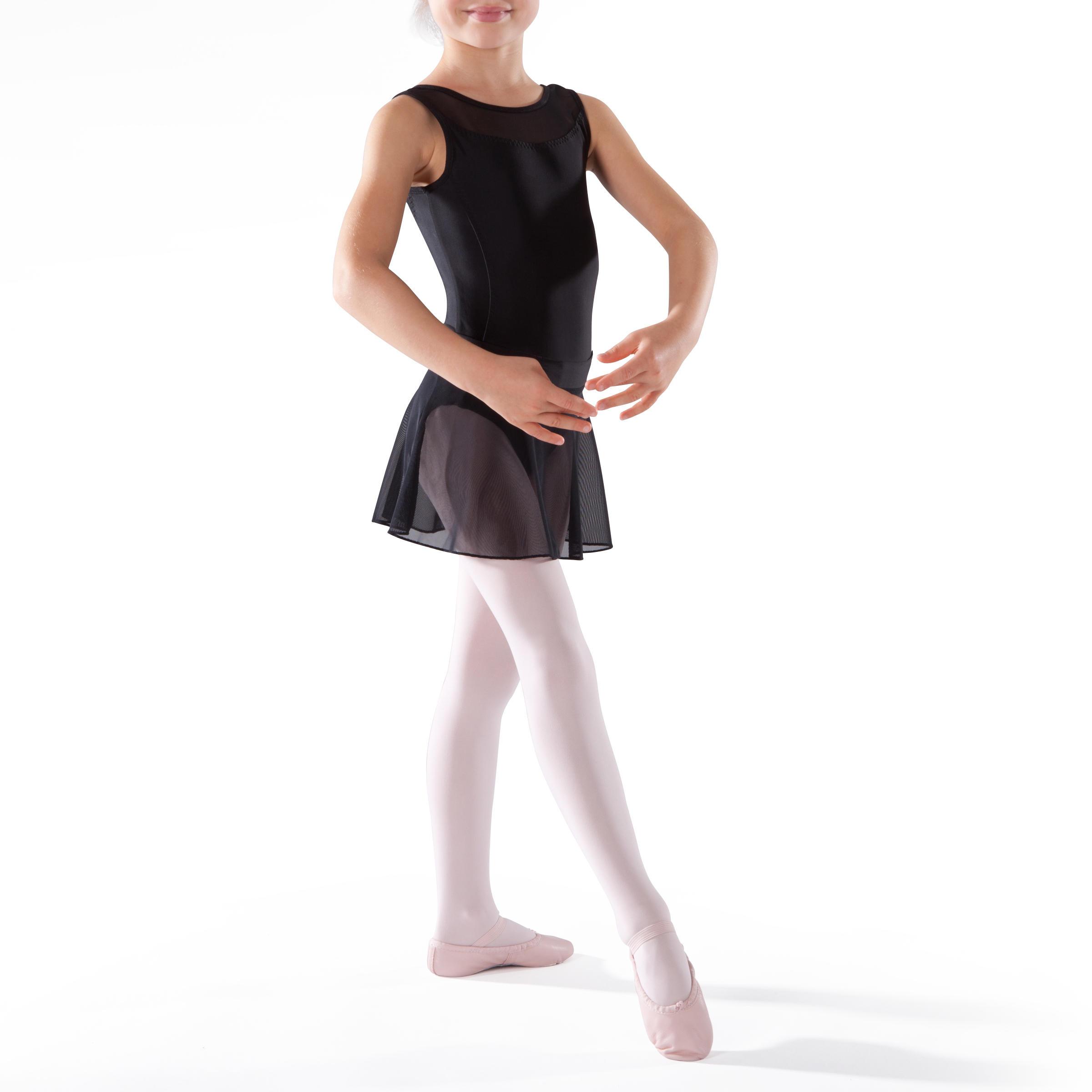 Faldita de danza clásica de gasa color negro para niña