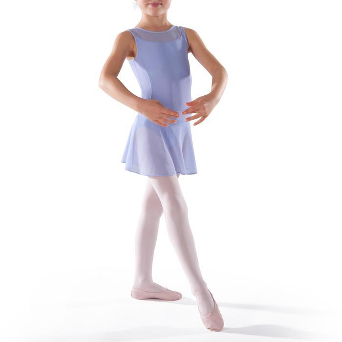 Faldita de danza clásica de gasa niña malva claro