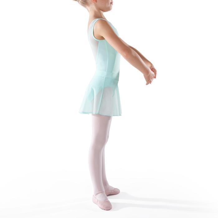 Faldita de danza clásica de gasa niña verde claro