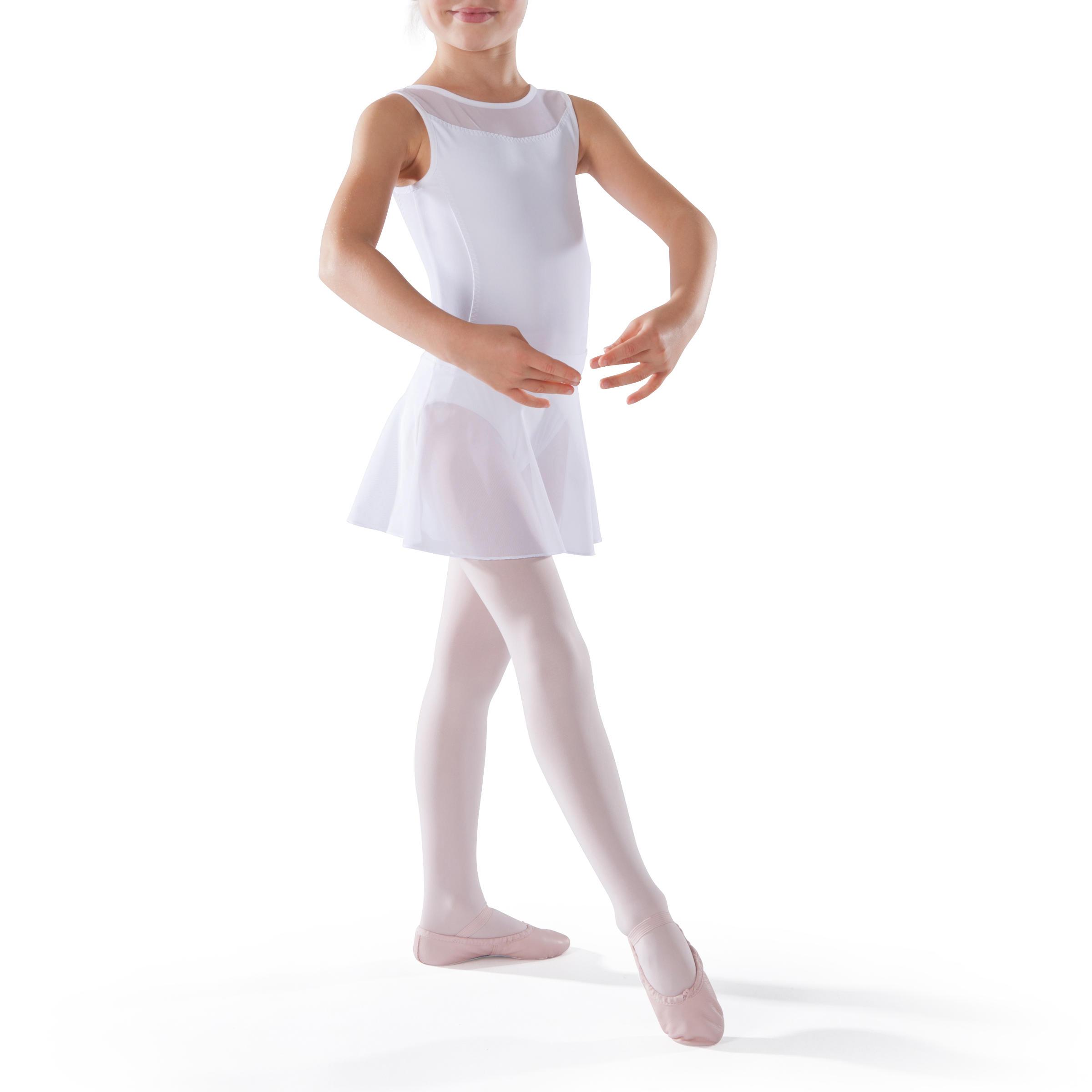 Faldita de danza clásica de gasa niña blanco