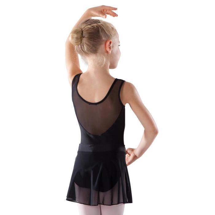 Faldita de danza clásica de gasa niña color negro