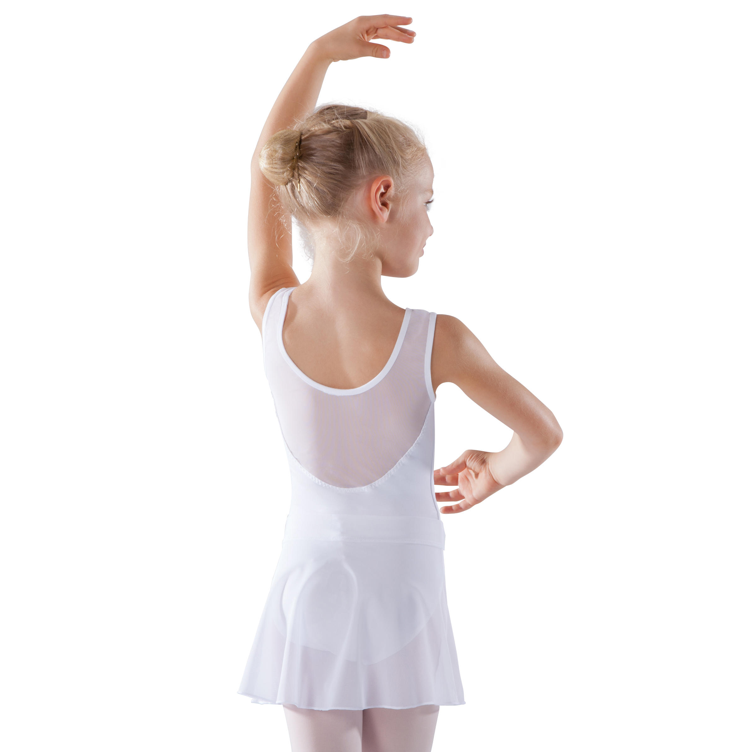 Jupette de danse classique en voile fille blanche