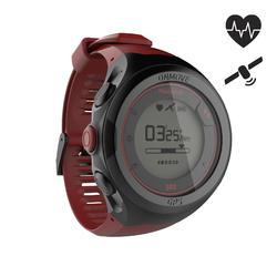 Gps-horloge voor running en hartslagmeting aan de pols ONmove 500 rood