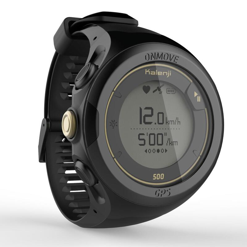 ONmove 500 GPS running watch and wrist heart rate monitor - limited edition gold
