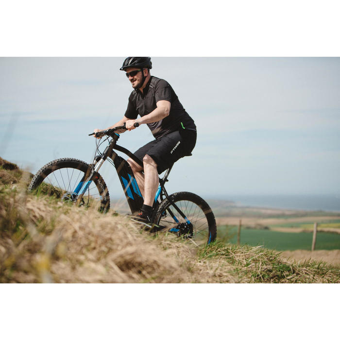 Bicicleta MTB eléctrica e-ST 500 negra y azul