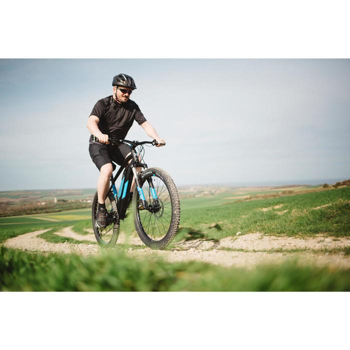 Vélo VTT électrique e-ST 500 noir et bleu