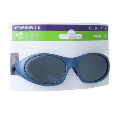 Lunettes de soleil randonnée enfant 3-6 ans SPARROW bleues catégorie 4