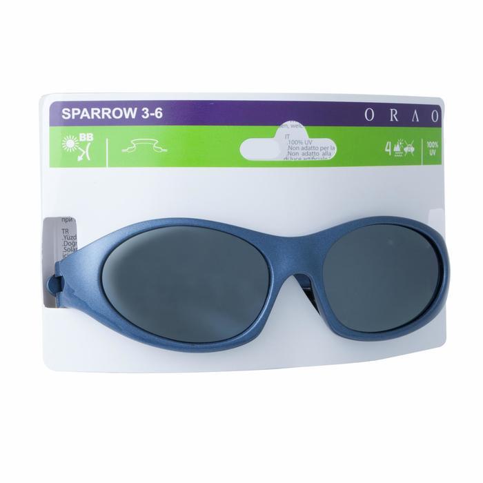 Lunettes de soleil randonnée enfant 3-6 ans SPARROW bleues catégorie 4 - 148740