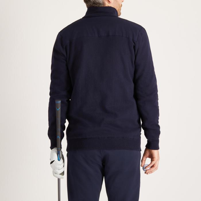 Winddichte golftrui voor heren, koud weer, marineblauw