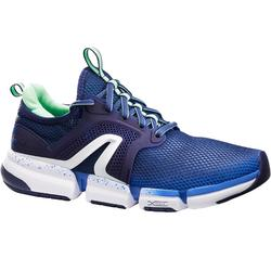 Zapatillas de marcha deportiva mujer PW 590 Xtense azul/verde