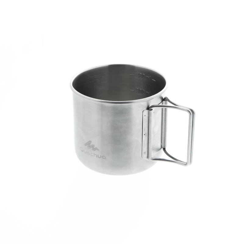 Mountain Hiking Stainless-Steel Camping Mug MH150 0.4L