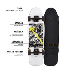 Cruiser Skateboard City Thrasher Ride weiß