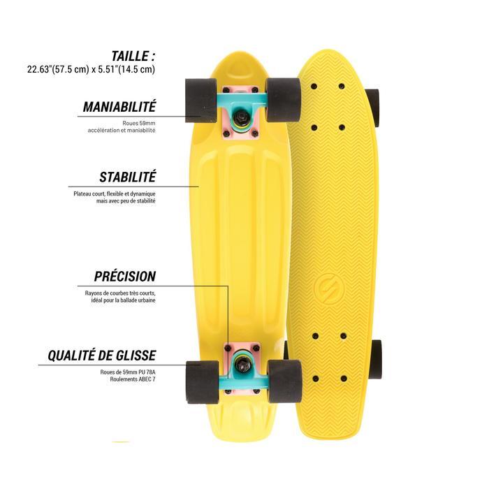 Cruiser Skateboard YAMBA Amarillo rosa