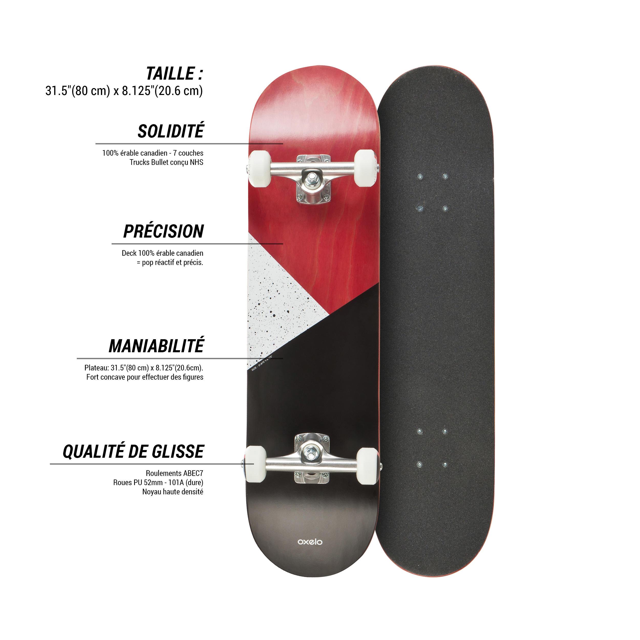 Planche à roulettes TEAM100 GALAXY Rouge