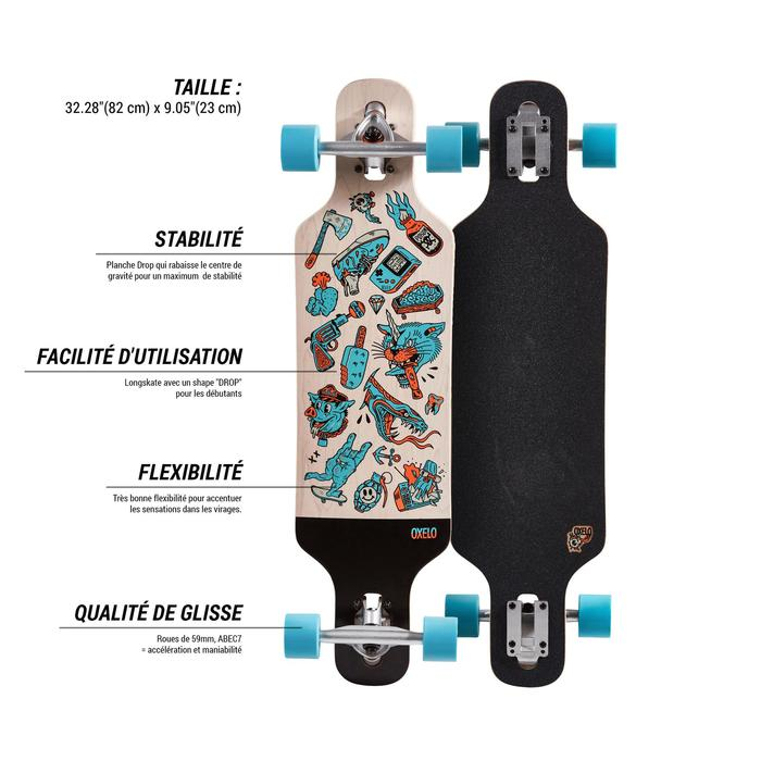 Longboard Drop Mini Core blau