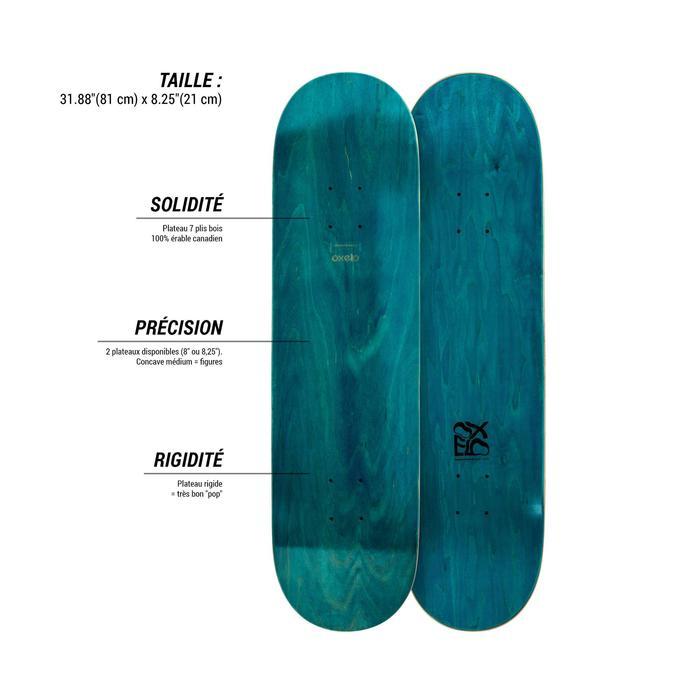 "Planche de skate TEAM NUDE  8,25"" bleue"