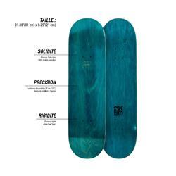 "Skateboard-Deck Team Nude 8,25"" blau"