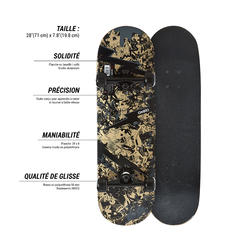 Kids Ages 5 to 7 Skateboard Mid 100 - Skull