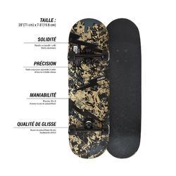 Skateboard MID100 Skull für Kinder von 3–7 Jahren