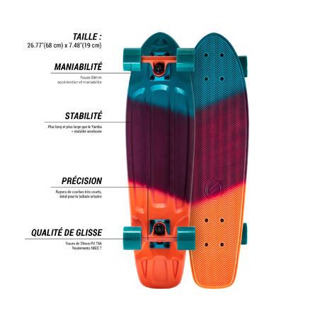 Planche à roulettes pour balades BIG YAMBA dégradée corail bleu