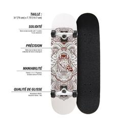 Skateboard Mid500 Bear für Kinder von 8–12 Jahren
