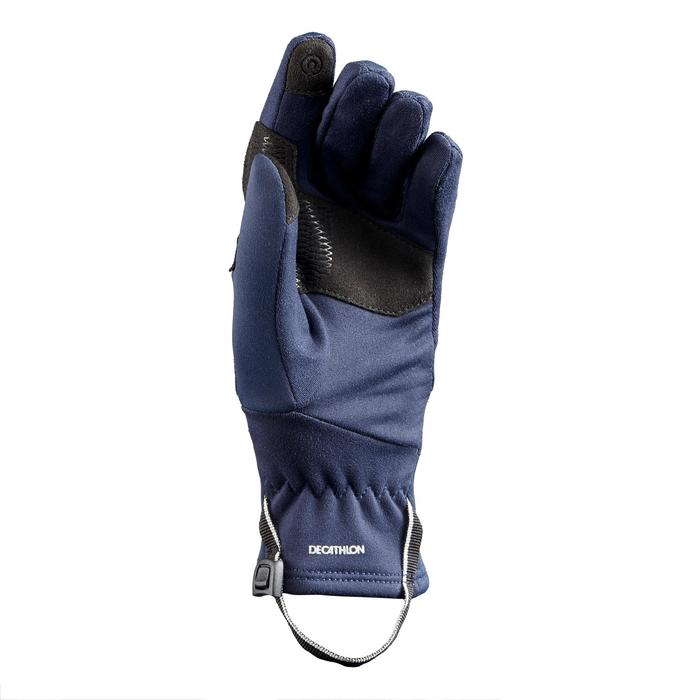 Stretch wandelhandschoenen voor kinderen SH500 blauw