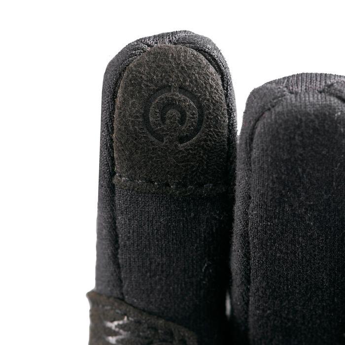 Gants stretch de randonnée junior SH500 noirs