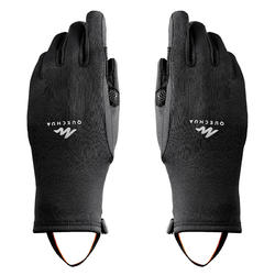 MH500 Hiking Stretch Gloves Black - Children's