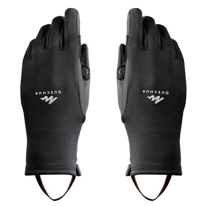 Handschuhe Wandern MH500 Stretch Kinder schwarz