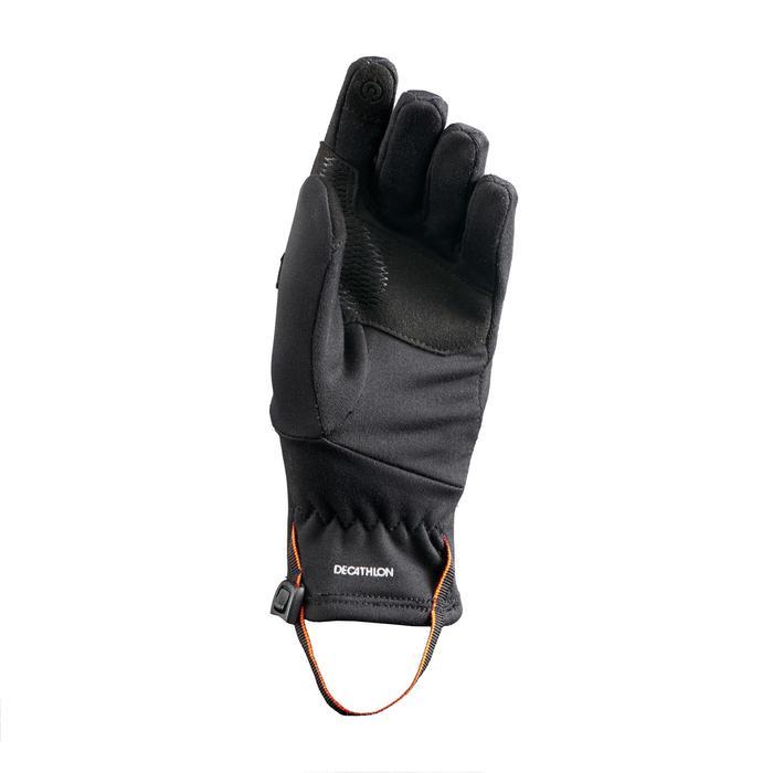 Handschuhe MH500 Stretch Wandern Kinder schwarz