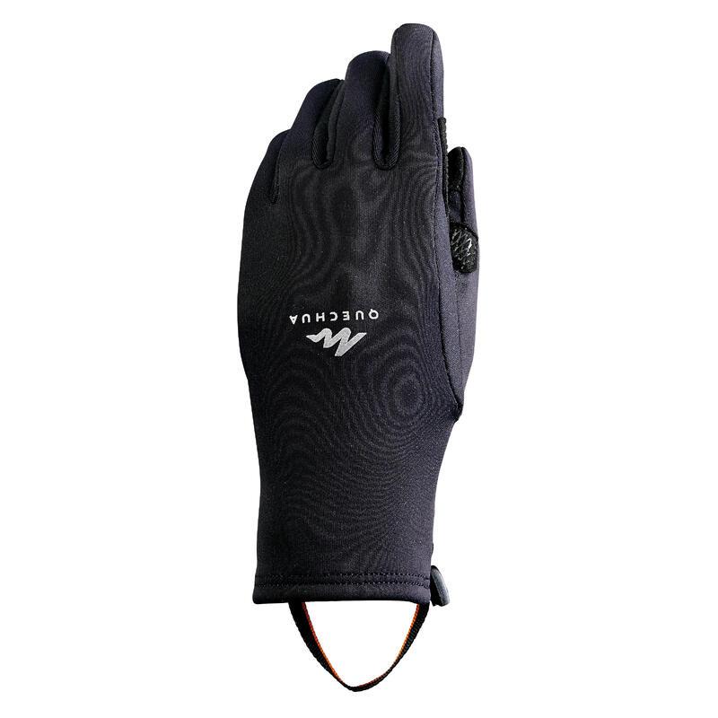 Mănuși inserții tactile drumeție pe zăpadă STRETCH negru Copii 6-14 ani